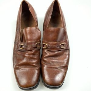 Florsheim Shoe Leather Brown Womens Loafer D3917